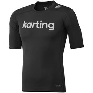 Adidas Karting Techfit Base SS Top Black Large