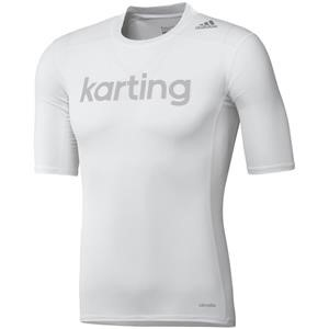 Adidas Karting Techfit Base SS Top White Large