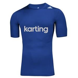 Adidas Karting Techfit Base SS Top Blue Large