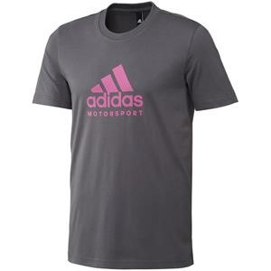 Adidas Motorsport T Shirt Graphite/Fluo Pink Large