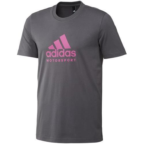 Adidas Motorsport T Shirt Graphite/Fluo Pink Small