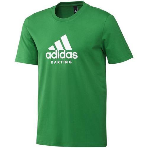 Adidas Karting T Shirt Green/White Large