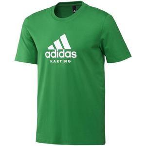 Adidas Karting T Shirt Green/White Medium