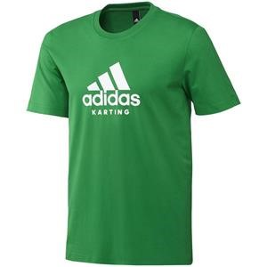 Adidas Karting T Shirt Green/White Small