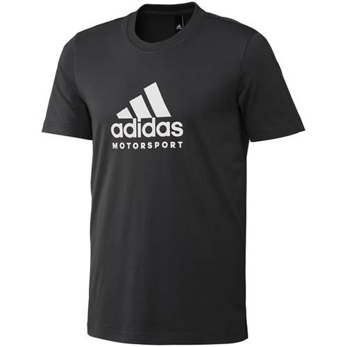 Adidas Motorsport T Shirt Black/White Large