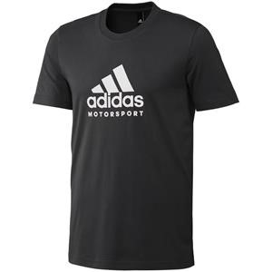 Adidas Motorsport T Shirt Black/White Medium
