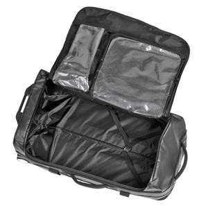 Adidas 3 Stripes Team Trolley Bag (Black/Metallic Silver) XL
