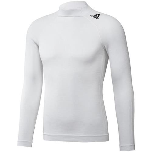 Adidas Techfit Long Sleeve Top White Medium / Large