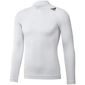 Adidas Techfit Long Sleeve Top White Medium / Large