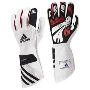 Adidas FIA adiSTAR Gloves White/Black/Silver Xsmall