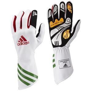 Adidas Kart XLT Gloves White/Red/Green XXSmall