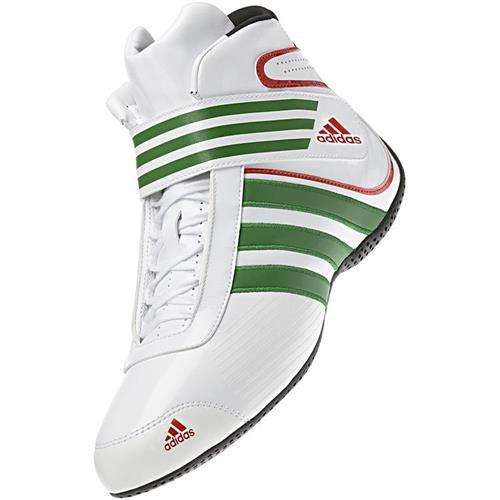 Adidas Kart XLT Shoe White/Green/Red UK 4.5