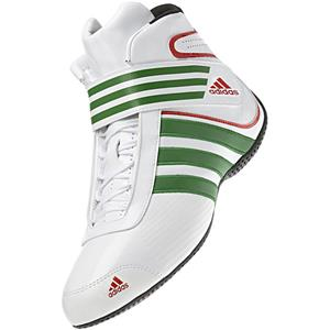 Adidas Kart XLT Shoe White/Green/Red UK 4.5