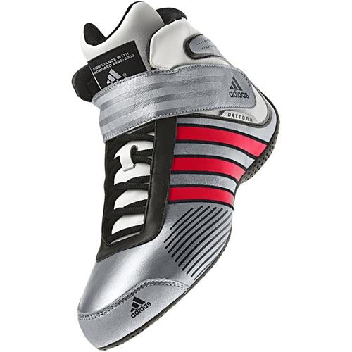 Adidas Daytona Shoe Silver/Red/Black UK 9.5