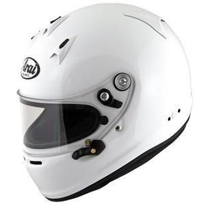 Arai GP-6 PED Helmet XLarge 61-62cm (with M6 washers) White
