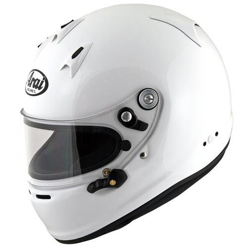Arai GP-6 PED Helmet XSmall 53-54cm (with M6 washers) White