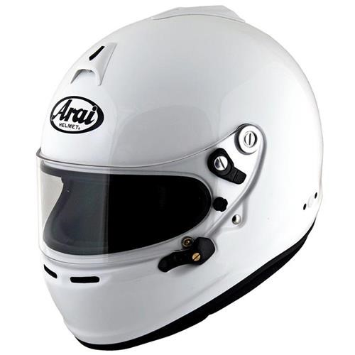 Arai GP-6S Helmet XSmall 53-54cm (with M6 washers) White