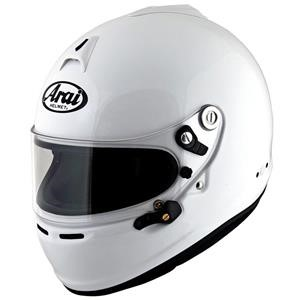 Arai GP-6S Helmet XSmall 53-54cm (with M6 washers) White