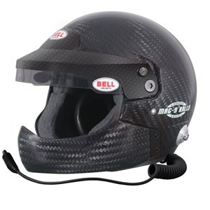 MAG9 RALLY CARBON HCB 61+ (7 5/8 PLUS)  (HANS) BELL HELMET