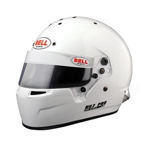 RS7 WHITE 61+ (7 5/8 PLUS)  (HANS) BELL HELMET
