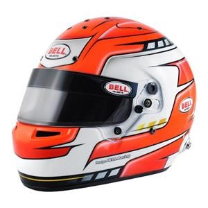 RS7 FALCON RED 57 (7 1/8)  (HANS) BELL HELMET