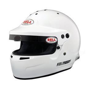 GT5 TOURING WHITE (HANS) LRG (60-61)  BELL HELMET
