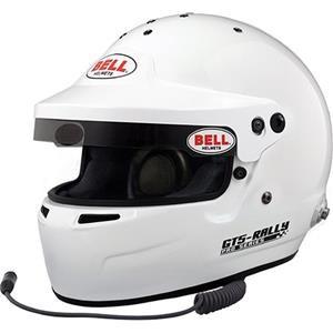 GT5 RALLY WHITE SML (57-58)  (HANS) BELL HELMET