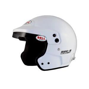 MAG9 WHITE LRG (60-61) -2015 (HANS) BELL HELMET