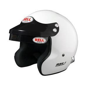 MAG1 (HANS) WHITE SML (57-58)  BELL HELMET