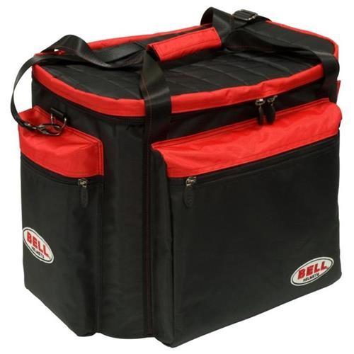 HELMET & GEAR BAG BLACK RED