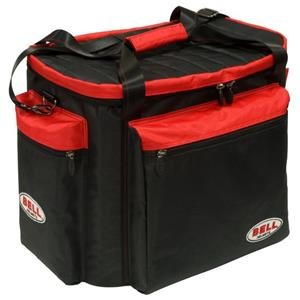 HELMET & GEAR BAG BLACK RED
