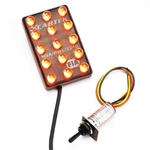 Cartek Rain Light FIA - 3-Mode with switch (Horizontal)