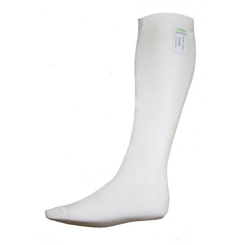 P1 Long Socks Aramidic White - XLarge