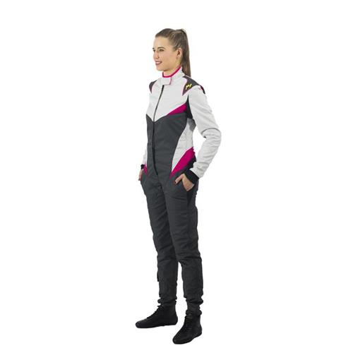 P1 Race Suit Donna Silver/Anthracite - Size 6