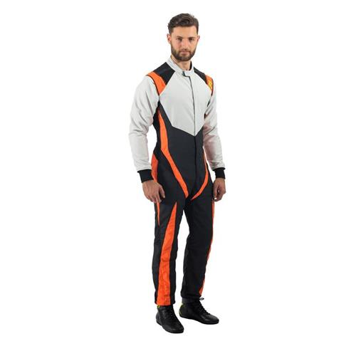 P1 Racesuit RS-Grinta Black/Silver/Orange - Size 4