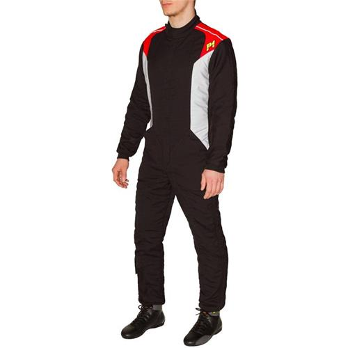 P1 Race Suit Smart-X3 Black/Silver - Size 6
