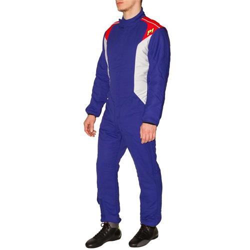 P1 Race Suit Smart-X3 Blue/Silver - Size 2