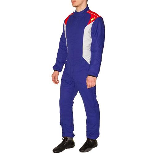 P1 Race Suit Smart-X3 Blue/Silver - Size 4