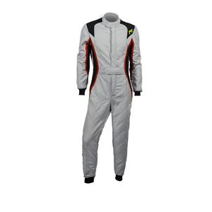 P1 Race Suit Turbo Silver/Black/Red - Size 4