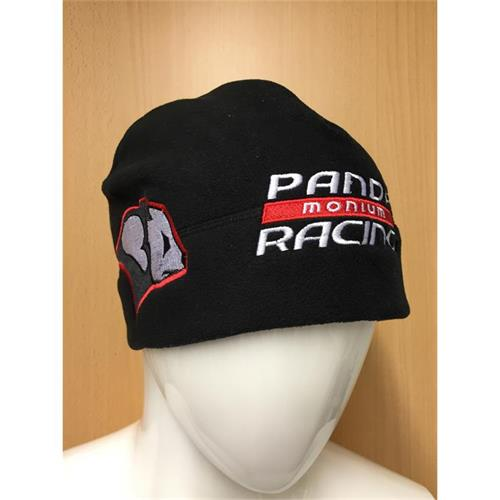 Panda Racing Embroidered Beanie Hat - Black