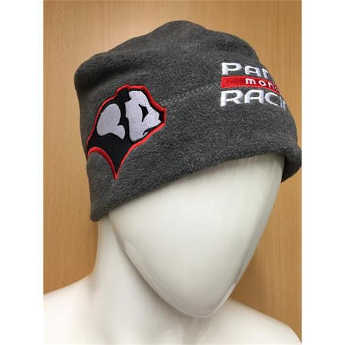 Panda Racing Embroidered Beanie Hat - Charcoal