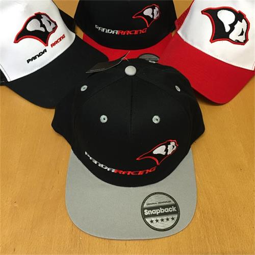 Panda Racing Embroidered Snapback - Black/Grey