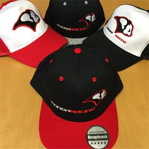 Panda Racing Embroidered Snapback - Black/Red