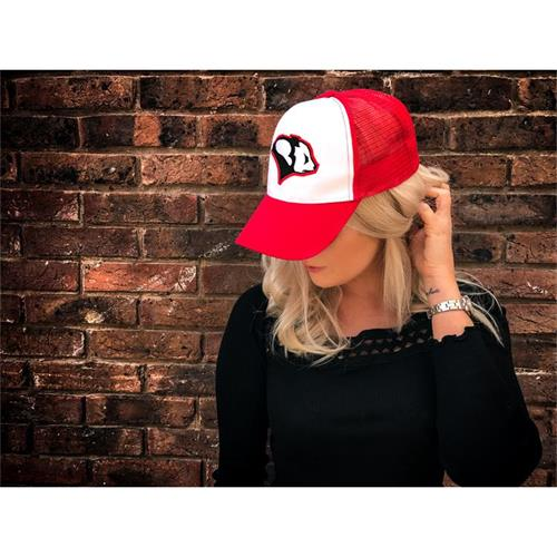 Panda Racing Embroidered Trucker Cap - Red/White