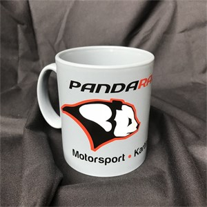Panda Racing Mug - Motorsport, Karting, Performance - Grey