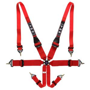 "TRS Harness Magnum Ultralite 3""/3"" Red 6 point HANS"